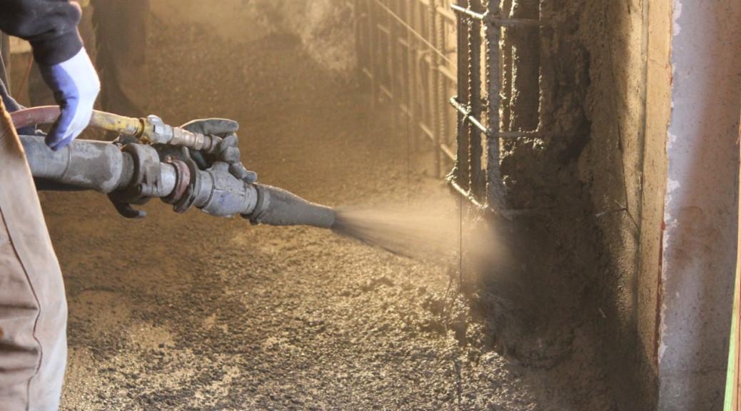 Building Rehabilitation in Portland, Oregon with Shotcrete Spraying by AAA Concrete Pumping, LLC.